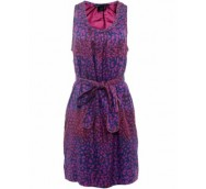 Marc By Marc Jacobs Purple Jungle Print Silk Dress